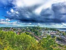 Paesaggio sopra la Norvegia in Tonsberg fotografia stock libera da diritti