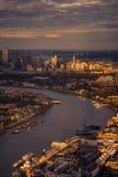 Paesaggio sopra Londra Fotografie Stock Libere da Diritti