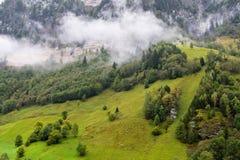 Paesaggio sotto la nebbia in Austria Fotografia Stock Libera da Diritti