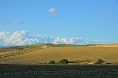 Paesaggio spagnolo del paese in primavera Fotografia Stock Libera da Diritti