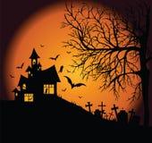 Paesaggio spaventoso di notte Fotografia Stock Libera da Diritti