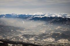Paesaggio spettacolare in montagne di Carpathians Fotografia Stock Libera da Diritti