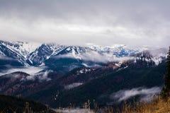 Paesaggio Spitzingsee nuvoloso nuvoloso Germania Europa della montagna Fotografia Stock