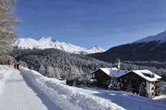 Paesaggio in st Moritz fotografie stock
