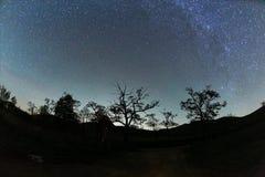 Paesaggio stellato del cielo fotografia stock libera da diritti