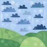 Paesaggio stilizzato di estate Fotografia Stock