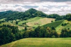 Paesaggio in Stiria del sud Fotografia Stock Libera da Diritti