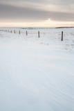 Paesaggio strutturato della neve Immagini Stock Libere da Diritti