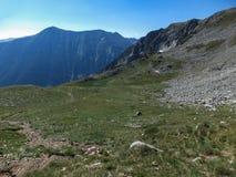 Paesaggio stupefacente dall'itinerario a scalare un picco di Vihren, montagna di Pirin Immagine Stock Libera da Diritti