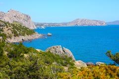 Paesaggio stupefacente del Mar Nero Fotografia Stock Libera da Diritti