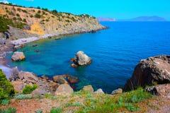 Paesaggio stupefacente del Mar Nero Immagine Stock