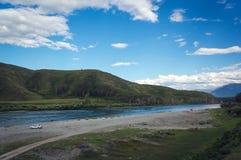 Paesaggio stupefacente di Altai della montagna Fotografie Stock