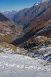 Paesaggio stupefacente di autunno delle alpi svizzere e di Zermatt Immagine Stock