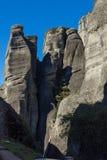 Paesaggio stupefacente di formazione rocciosa vicino a Meteora, Grecia Fotografia Stock