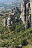 Paesaggio stupefacente di formazione rocciosa vicino a Meteora, Grecia Fotografie Stock Libere da Diritti