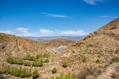Paesaggio stupefacente di Sierra Nevada, regione Almeria/di Alpujarra Immagini Stock Libere da Diritti