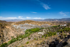 Paesaggio stupefacente di Sierra Nevada, regione Almeria/di Alpujarra Fotografia Stock Libera da Diritti