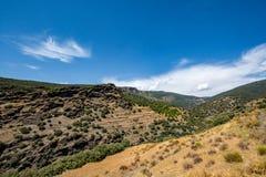 Paesaggio stupefacente di Sierra Nevada, regione Almeria/di Alpujarra Fotografia Stock
