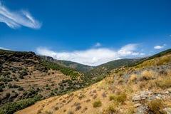 Paesaggio stupefacente di Sierra Nevada, regione Almeria/di Alpujarra Fotografie Stock Libere da Diritti