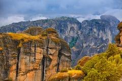 Paesaggio stupefacente a Meteora Immagini Stock