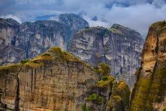 Paesaggio stupefacente a Meteora Fotografia Stock