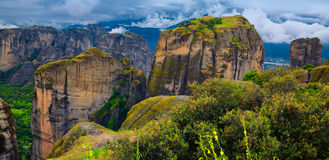 Paesaggio stupefacente a Meteora Fotografie Stock Libere da Diritti