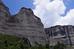 Paesaggio stupefacente in Meteora, Grecia Fotografie Stock Libere da Diritti