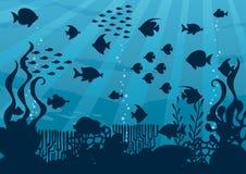 Paesaggio subacqueo del fumetto royalty illustrazione gratis
