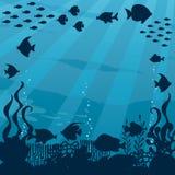 Paesaggio subacqueo del fumetto illustrazione di stock