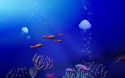 Paesaggio subacqueo tropicale Immagini Stock Libere da Diritti