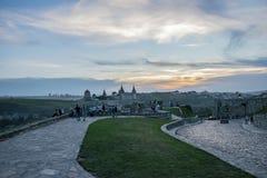 paesaggio sul castello in Kamianets-Podilskyi immagini stock libere da diritti
