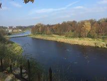 Paesaggio sul manzo del fiume Fotografia Stock Libera da Diritti