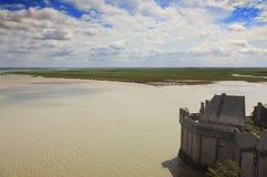 Paesaggio sul Saint Michel di Mont Fotografie Stock Libere da Diritti