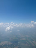 Paesaggio sull'aereo Fotografie Stock