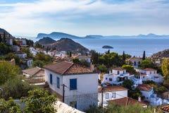 Paesaggio sull'isola della hydra, mar Egeo Fotografia Stock