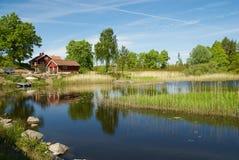 Paesaggio sulla costa ovest, Svezia dello svedese fotografia stock