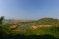 Paesaggio sulla montagna Fotografia Stock
