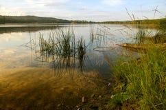 Paesaggio sulla riva del lago Fotografie Stock