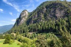 Paesaggio sulle dolomia, Trentino, Italia della montagna Immagine Stock Libera da Diritti