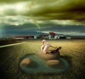 Paesaggio surreale fotografia stock