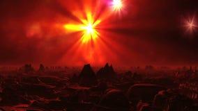 Paesaggio surrealista del pianeta straniero video d archivio