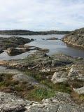 Paesaggio svedese della costa ovest fotografia stock libera da diritti