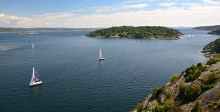 Paesaggio svedese di estate Fotografia Stock