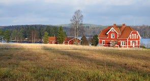 Paesaggio in Svezia, Europa Fotografia Stock Libera da Diritti