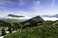 Paesaggio svizzero degli altopiani Fotografia Stock