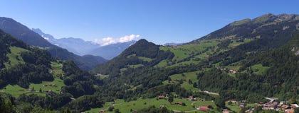 Paesaggio svizzero della montagna Fotografie Stock Libere da Diritti