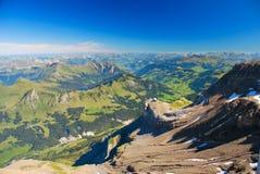 Paesaggio svizzero delle alpi Fotografia Stock