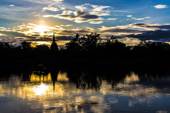 Paesaggio tailandese del tempio Immagine Stock