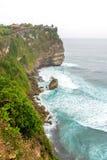 Paesaggio in tempio Bali Indonesia di Uluwatu Fotografia Stock Libera da Diritti
