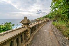 Paesaggio in tempio Bali Indonesia di Uluwatu Fotografie Stock Libere da Diritti